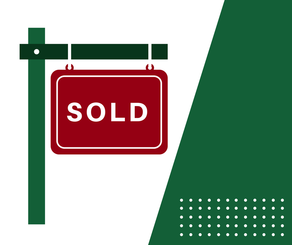 Sold out sign green object icon