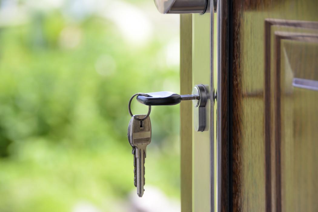 Key inside door keyhole