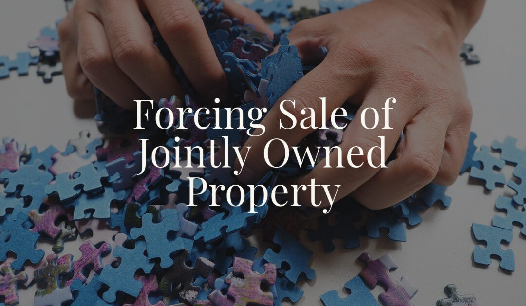 Forcing Sale of Jointly Owned Property